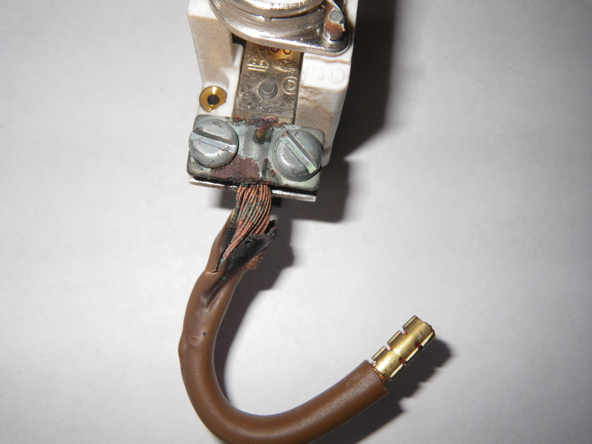 No Rcbo On Shower And Burnt Out Connections Main Fuse Electric Wiring Rcd There Should Be An Or All Showers