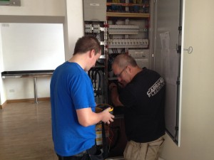 Dave and Alan testing
