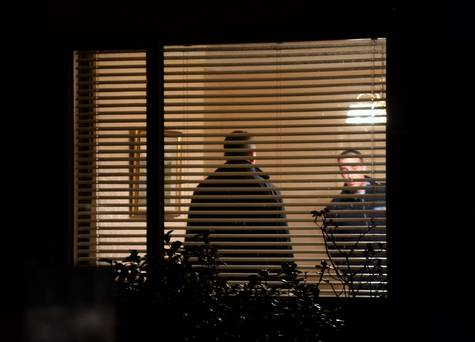 Gardai inside the house in Churchtown